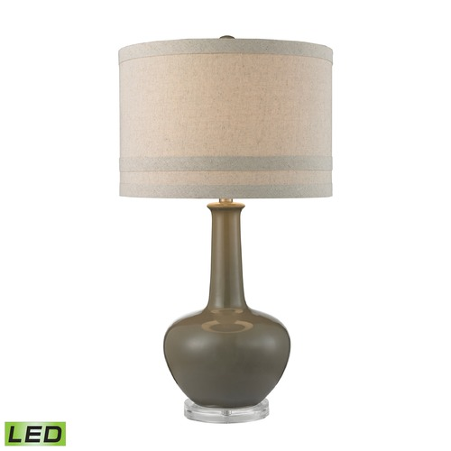 Dimond Lighting Dimond Lighting Grey Glaze LED Table Lamp with Drum Shade D2623-LED