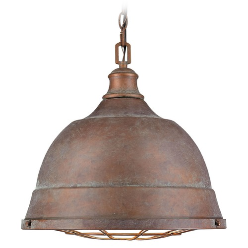 Golden Lighting Golden Lighting Bartlett Copper Patina Pendant Light 7312-L CP