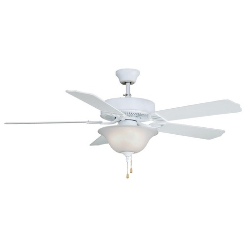 Fanimation Fans Fanimation Fans Aire Decor Matte White Ceiling Fan with Light BP220MW1