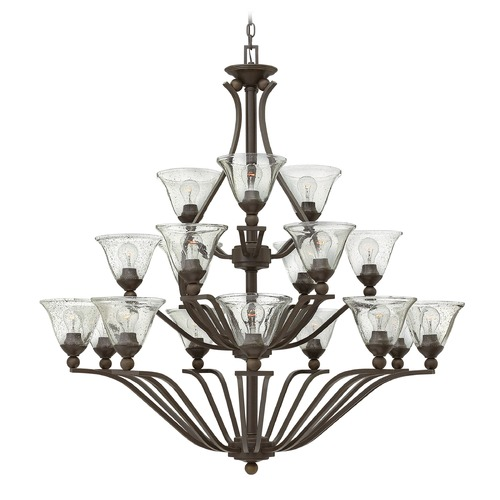 Hinkley Lighting Hinkley Bolla 3-Tier 18-Light Chandelier in Olde Bronze 4659OB-CL