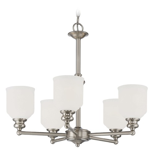 Savoy House Savoy House Lighting Melrose Satin Nickel Chandelier 1-6837-5-SN