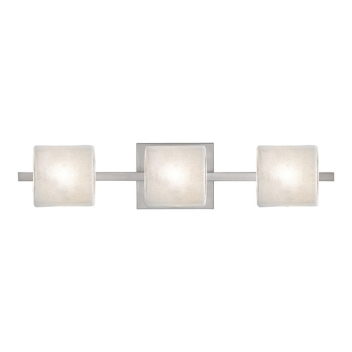 Besa Lighting Besa Lighting Paolo Satin Nickel LED Bathroom Light 3WS-7873GL-LED-SN
