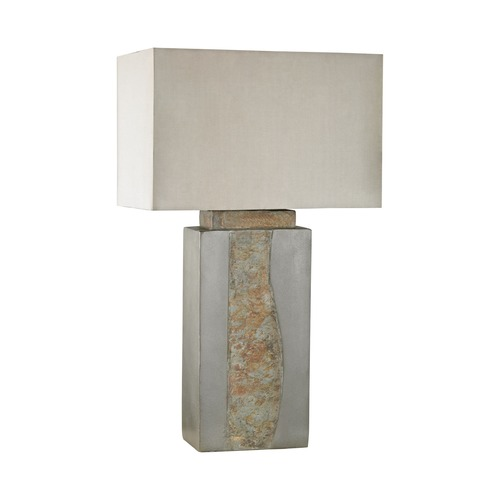 Dimond Lighting Dimond Grey and Natural Slate Outdoor Table Lamp D3098