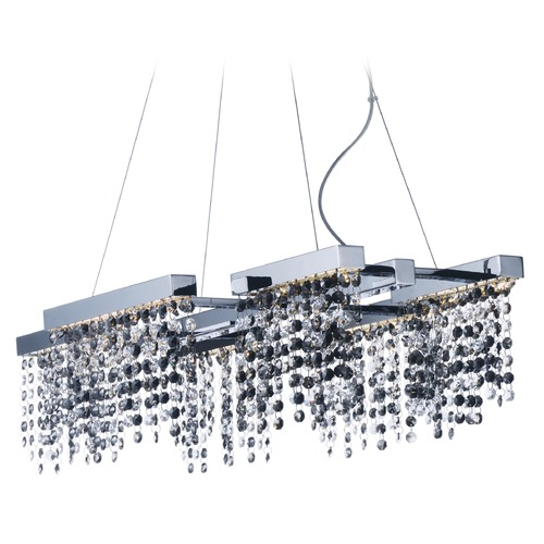 ET2 Lighting Midnight Shower Polished Chrome LED Pendant Light E23096-138PC