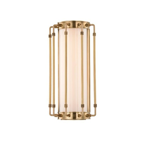 Hudson Valley Lighting Hyde Park Aged Brass LED Bathroom Light 9712-AGB