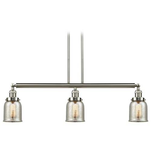 Innovations Lighting Innovations Lighting Small Bell Brushed Satin Nickel Island Light with Bell Shade 213-SN-S-G58