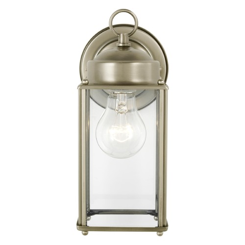 Sea Gull Lighting Sea Gull Lighting New Castle Antique Brushed Nickel Outdoor Wall Light 8593-965