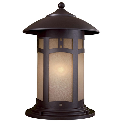 Minka Lavery Post Light with Beige / Cream Glass in Dorian Bronze Finish 8725-A615B