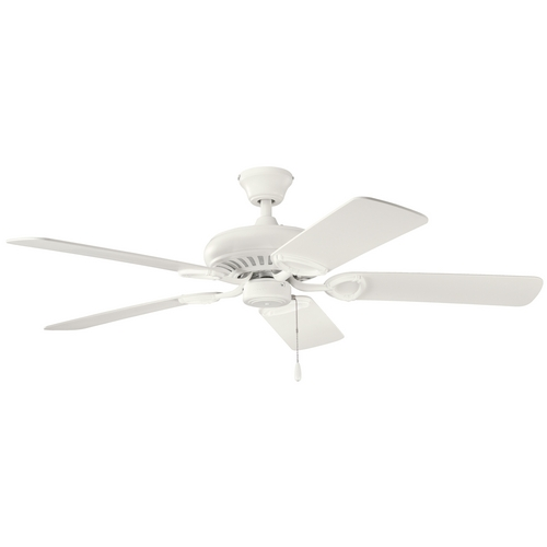 Kichler Lighting Kichler Ceiling Fan Without Light in Satin Natural White Finish 339011SNW