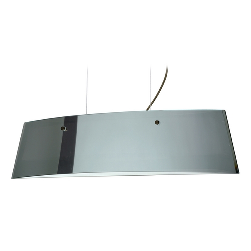Besa Lighting Modern Island Light with White Glass in Bronze Finish LS3-4454MR-BR