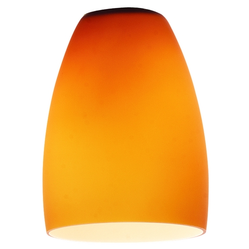 Access Lighting Amber Bowl / Dome Glass Shade - 1-3/4-Inch Fitter Opening 969ST-AMB