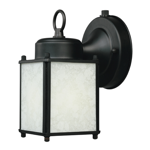 Designers Fountain Lighting Outdoor Wall Light with White Glass in Pewter Finish ES1161-BK