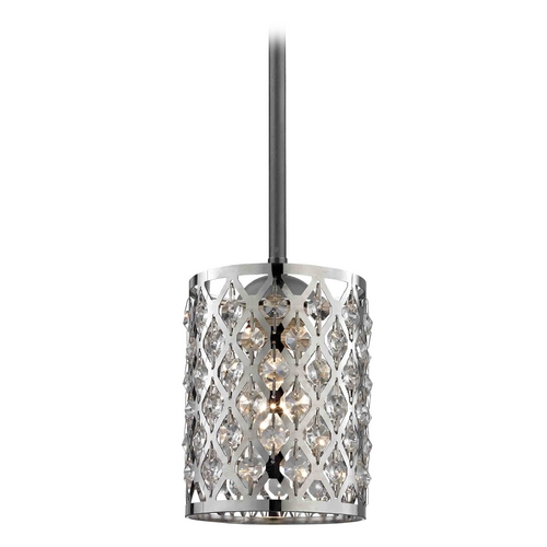 Design Classics Lighting Crystal Mini-Pendant Light 581-07 GL1046-26