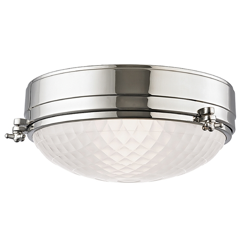 Hudson Valley Lighting Hudson Valley Lighting Belmont Polished Nickel Flushmount Light 8013-PN