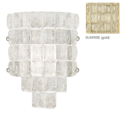 Fine Art Lamps Fine Art Lamps Constructivism Hand-Applied Gold Sconce 840450-2ST
