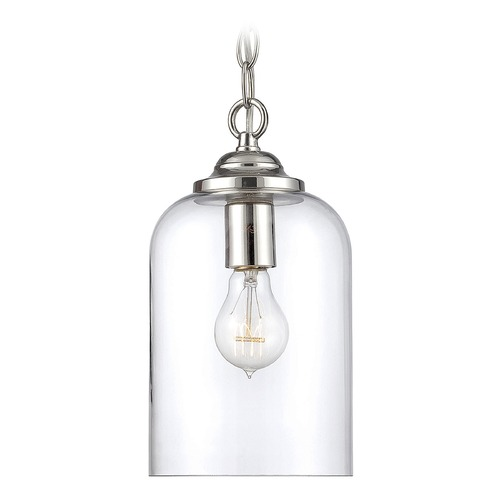 Savoy House Savoy House Lighting Bally Polished Nickel Mini-Pendant Light with Cylindrical Shade 7-700-1-109