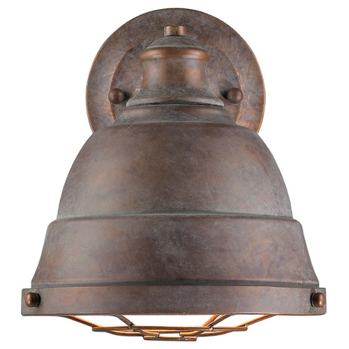 Golden Lighting Golden Lighting Bartlett Copper Patina Sconce 7312-1W CP
