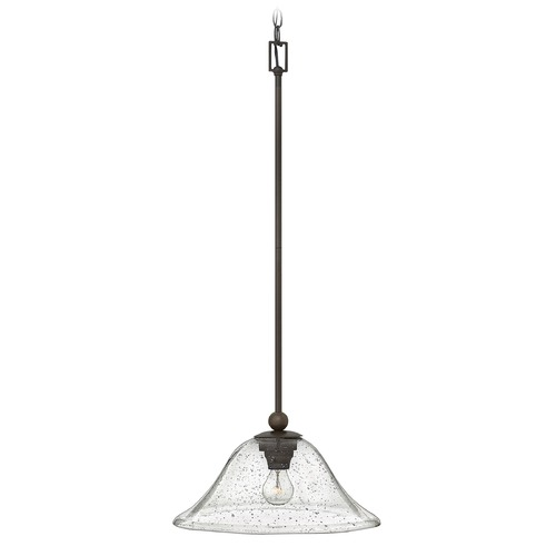 Hinkley Lighting Hinkley Lighting Bolla Olde Bronze Pendant Light with Bowl / Dome Shade 4661OB-CL