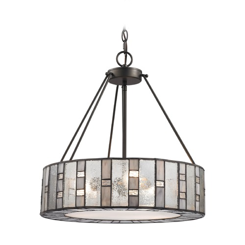 Elk Lighting Elk Lighting Ethan Tiffany Bronze Pendant Light with Drum Shade 70212/3