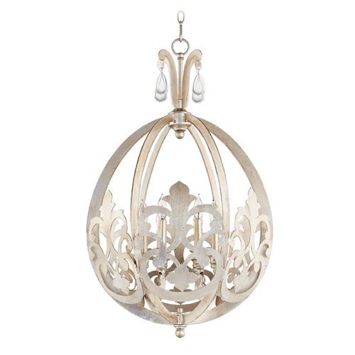 Quorum Lighting Quorum Lighting Charlton Aged Silver Leaf Pendant Light 833-6-60