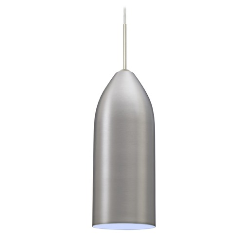 Besa Lighting Besa Lighting Lindy Satin Nickel LED Mini-Pendant Light with Oblong Shade 1JT-LINDCY-LED-SN