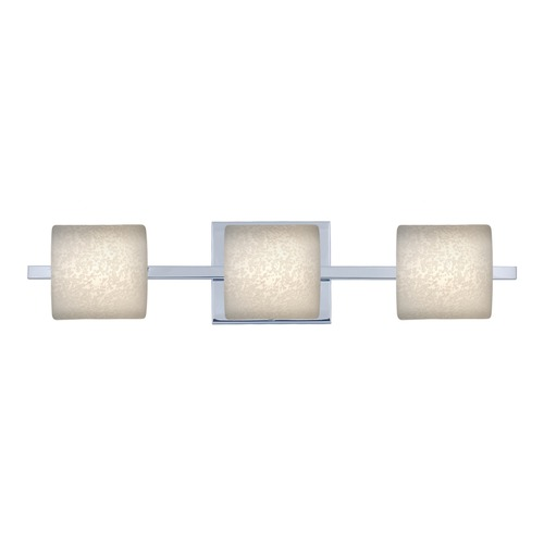 Besa Lighting Besa Lighting Paolo Chrome LED Bathroom Light 3WS-7873ST-LED-CR