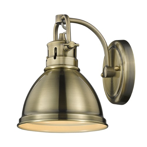 Golden Lighting Golden Lighting Duncan Ab Aged Brass Sconce 3602-BA1 AB-AB