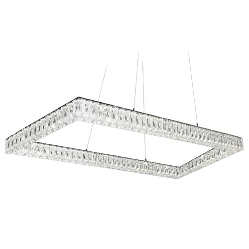 Kuzco Lighting Crystal Chrome LED Pendant with Clear Shade 4000K 5000LM PD7852(4000K)