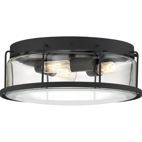 Quoizel Lighting Quoizel Lighting Ludlow Earth Black Flushmount Light LUD1613EK
