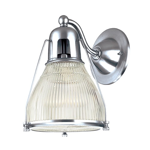 Hudson Valley Lighting Modern Sconce Wall Light with Clear Glass in Polished Nickel Finish 7301-PN
