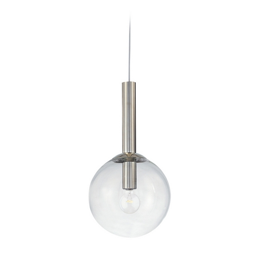 Sonneman Lighting Modern Pendant Light with Clear Glass in Polished Nickel Finish 3762.35