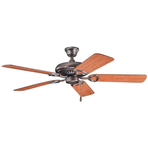Kichler Lighting Kichler Ceiling Fan Without Light in Oil Brushed Bronze Finish 339011OBB