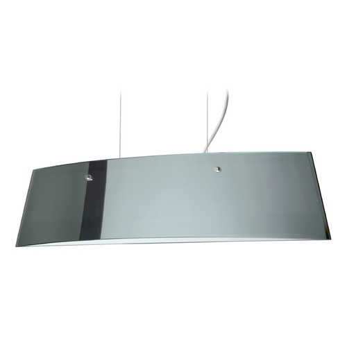 Besa Lighting Modern Island Light with White Glass in Polished Nickel Finish LS3-4454MR-PN