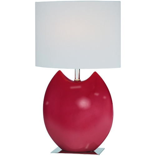 Lite Source Lighting Lite Source Lighting Spazio Red Table Lamp with Cylindrical Shade LS-21335RED