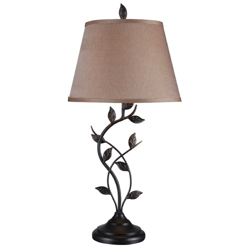 Kenroy Home Lighting Table Lamp with Gold Shade in Oil Rubbed Bronze Finish 32239ORB