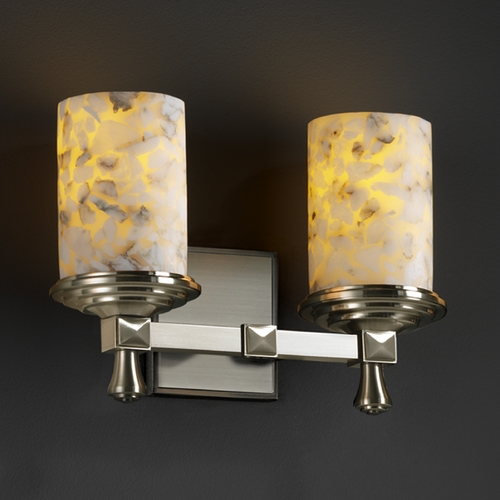 Justice Design Group Justice Design Group Alabaster Rocks! Collection Bathroom Light ALR-8532-10-NCKL