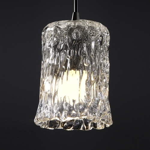 Justice Design Group Justice Design Group Veneto Luce Collection Mini-Pendant Light GLA-8815-16-CLRT-DBRZ