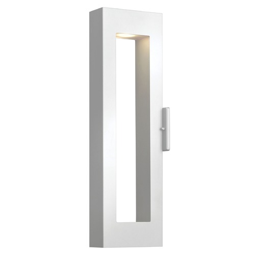 Hinkley Lighting Modern Outdoor Wall Light with Etched in Satin White Finish 1644SW