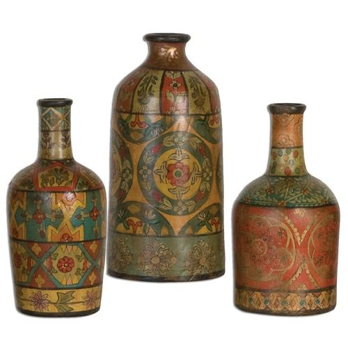 Uttermost Lighting Uttermost Sachi Terracotta Vases Set of 3 19814