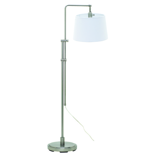 House of Troy Lighting House Of Troy Crown Point Satin Nickel Swing Arm Lamp with Empire Shade CR700-SN