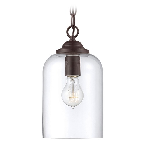 Savoy House Savoy House Lighting Bally English Bronze Mini-Pendant Light with Cylindrical Shade 7-700-1-13