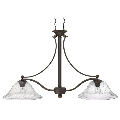 Hinkley Lighting Hinkley Lighting Bolla Olde Bronze Island Light with Bowl / Dome Shade 4662OB-CL
