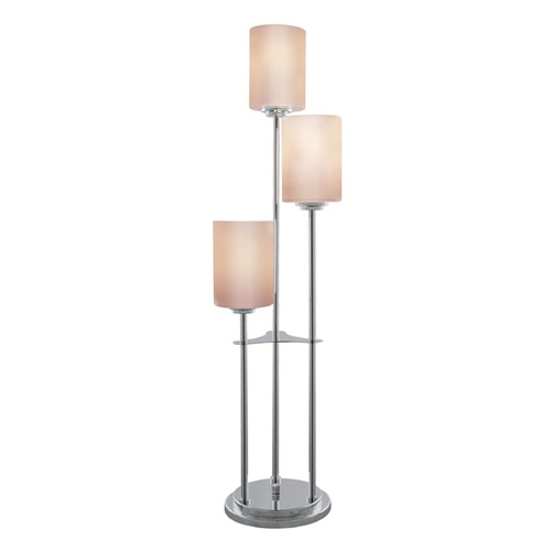 Lite Source Lighting Lite Source Bess Brushed Nickel Table Lamp with Cylindrical Shade LS-20700BN