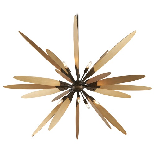 Troy Lighting Troy Lighting Dragonfly Bronze with Satin Leaf Pendant Light F5277