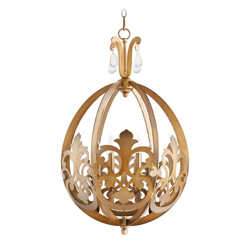 Quorum Lighting Quorum Lighting Charlton Aged Brass Pendant Light 833-6-80