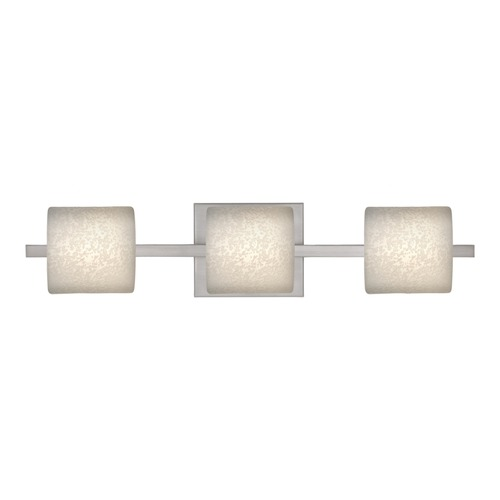 Besa Lighting Besa Lighting Paolo Satin Nickel LED Bathroom Light 3WS-7873ST-LED-SN