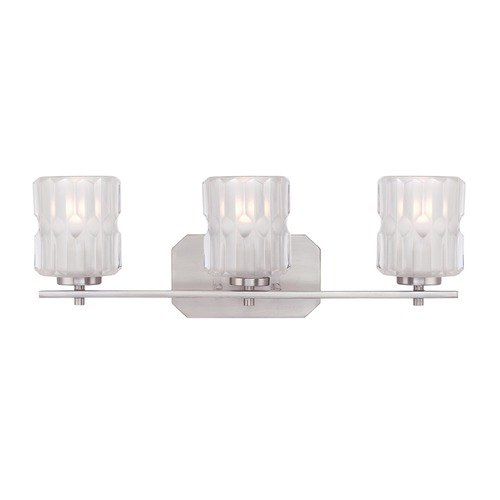 Designers Fountain Lighting Designers Fountain Valeta Satin Platinum Bathroom Light 67603-SP