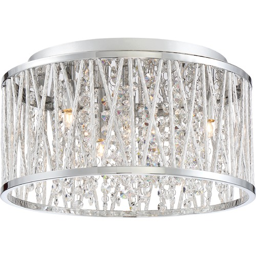 Quoizel Lighting Quoizel Lighting Platinum Collection Crystal Cove Polished Chrome Flushmount Light PCCC1614C
