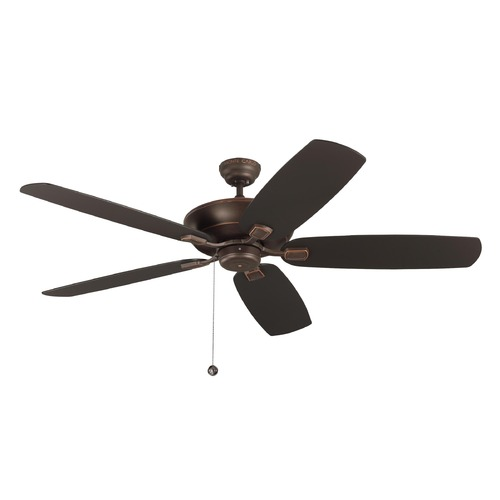 Monte Carlo Fans Monte Carlo Colony Super Max Roman Bronze Ceiling Fan Without Light 5CSM60RB