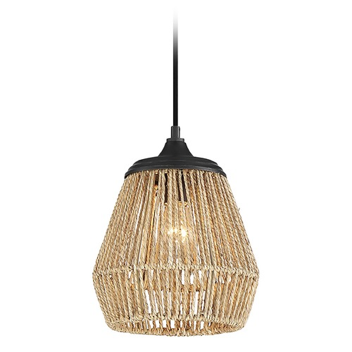 Quoizel Lighting Quoizel Lighting Romain Earth Black Pendant Light with Oblong Shade RMI1509EK